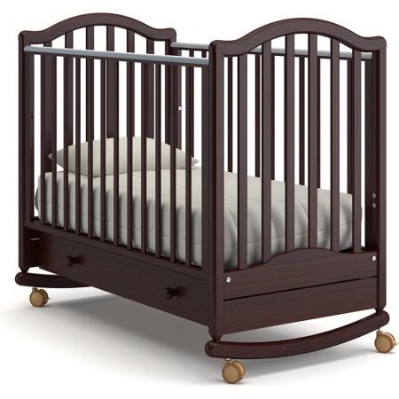 Детская кроватка Гандылян Лейла качалка   -  Махагон