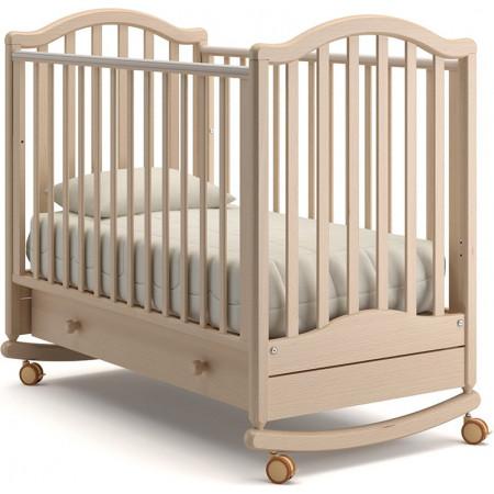 Детская кроватка Гандылян Лейла качалка   -  Выбеленный Бук