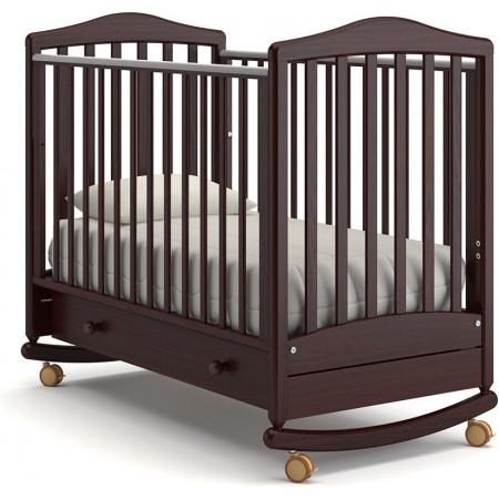 Детская кроватка Гандылян Симоник качалка   -  Махагон