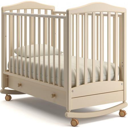 Детская кроватка Гандылян Симоник качалка   - слоновая кость