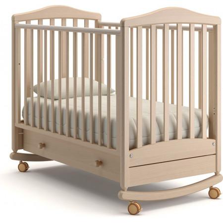 Детская кроватка Гандылян Симоник качалка   -  Выбеленный Бук