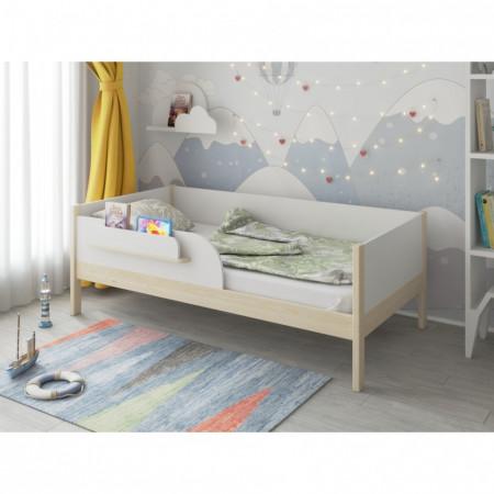 Кроватка подростковая MALIKA ASTRID 160х80 см - белый+ натуральный