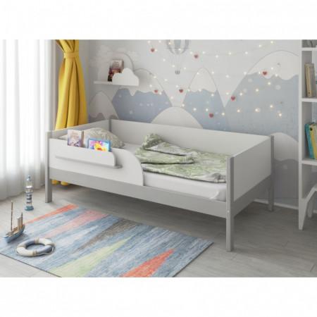 Кроватка подростковая MALIKA ASTRID 160х80 см - серый-белый