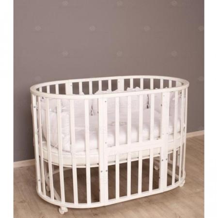Кровать детская Incanto Северная Звезда 9 в 1 колесо - белый