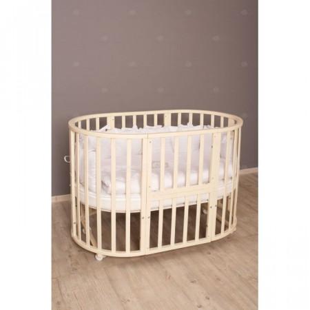 Кровать детская Incanto Северная Звезда 9 в 1 колесо - слоновая кость