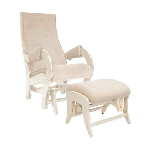 Комплект, Кресло для кормления и укачивания Milli Ice + пуф