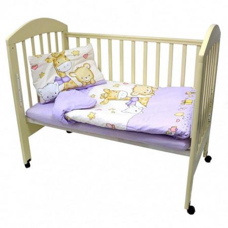 """Комплект постельного белья """"Детский мир"""" - фиолетовый"""