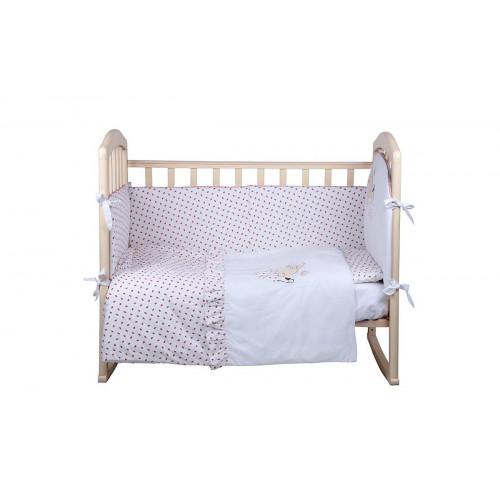 Комплект в кроватку 7 предм. ЗЕМЛЯНИЧКА