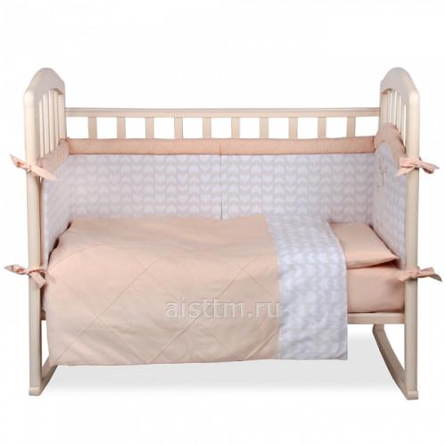 """Комплект в кроватку """"Звездный зайчик"""" 4 предмета"""