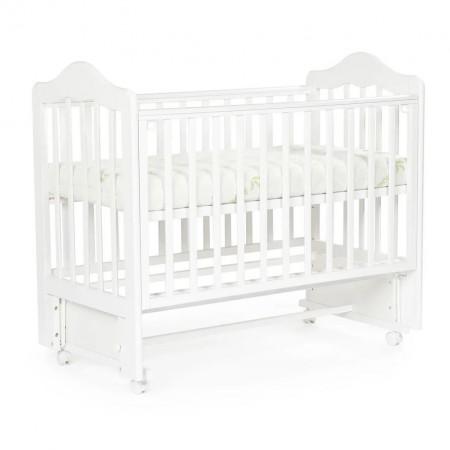 Детская кровать BEBIZARO FILLMORE колесо-маятник - Белый
