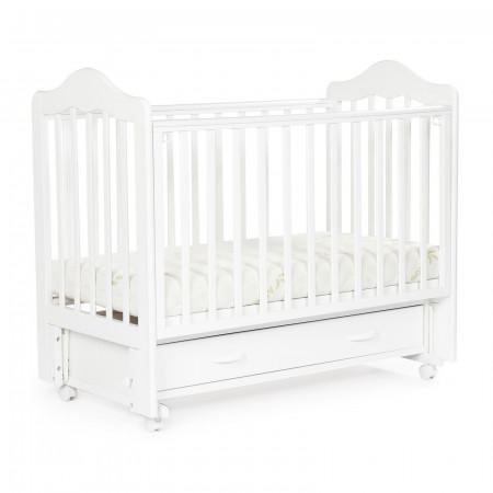 Детская кровать BEBIZARO FILLMORE колесо-маятник-ящик - белый