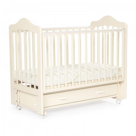 Детская кровать BEBIZARO FILLMORE колесо-маятник-ящик - ваниль