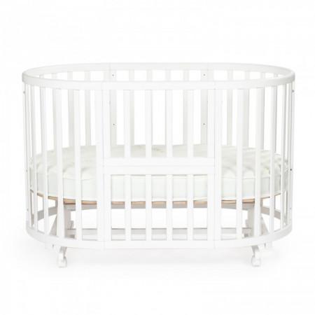 Детская кровать BEBIZARO HEIRLOOM – с поперечным маятником - Белый