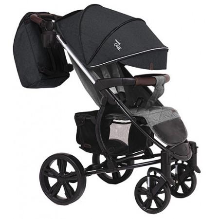 Коляска прогулочная Bubago Model One - Черный+темно-серый