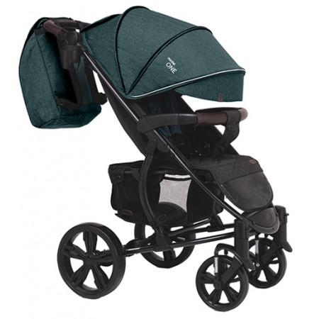 Коляска прогулочная Bubago Model One - Темнозелёный-черный