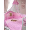 Комплект в кроватку МИШКА ЦАРЬ  (8 предметов)