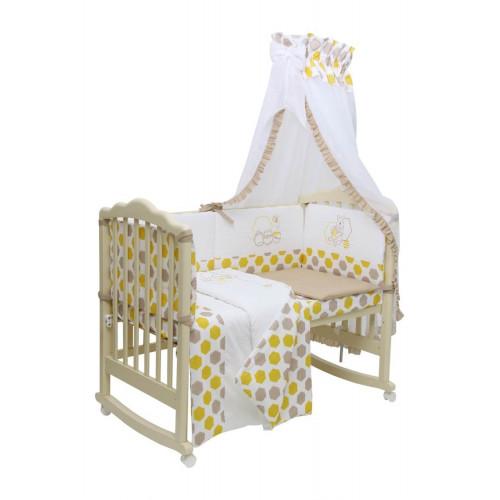 Комплект в кроватку Polini Disney baby Медвежонок Винни и его друзья, 7 предметов