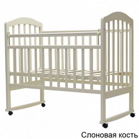 """Детская кроватка """"ЛИРА""""-2 кол/качалка - Слоновая Кость"""