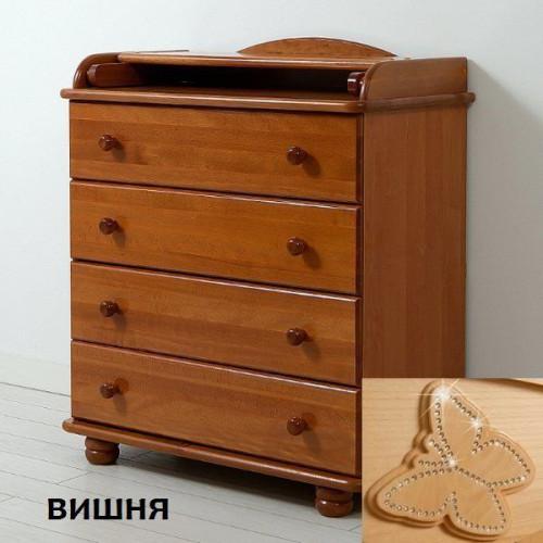 "Комод детский ""Аистенок"" КО-2003-1 декор бабочка"
