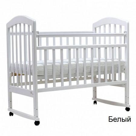 """Детская кроватка """"ЛИРА""""-2 кол/качалка - Белый"""