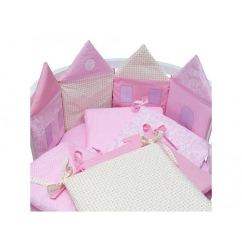 Комплект в кроватку 14 предметов Alis Домики