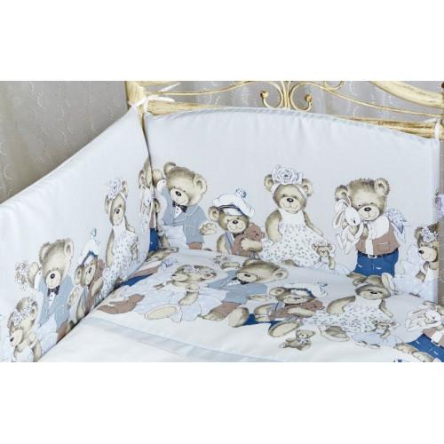 "Бортик в кроватку Lappetti ""Мишкины игрушки"""