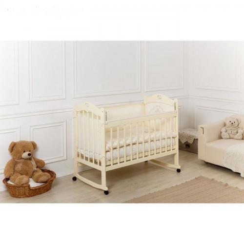 Кровать детская «Incanto Sofi» с сердечком колесо-качалка