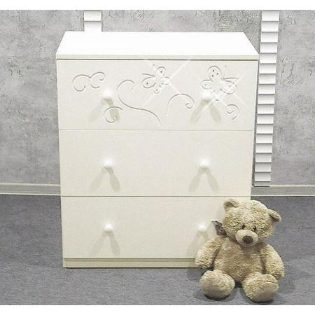 Комод детский «Бабочки» съемный пеленальный стол