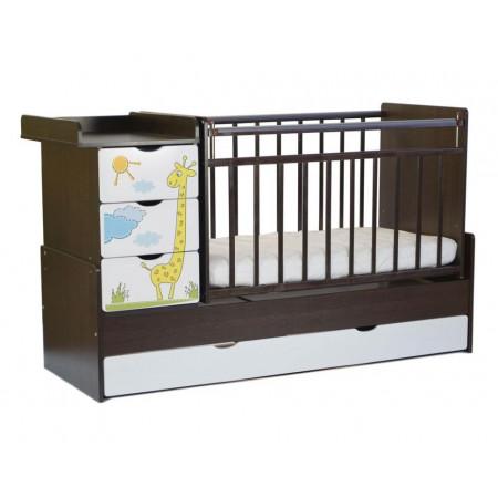 Детская кроватка-трансформер СКВ-5 Жираф (маятник поперечный)