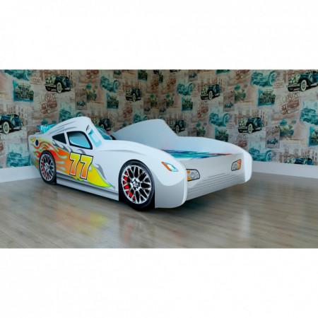 Кроватка подростковая машинка Malika Red Rally - Белый