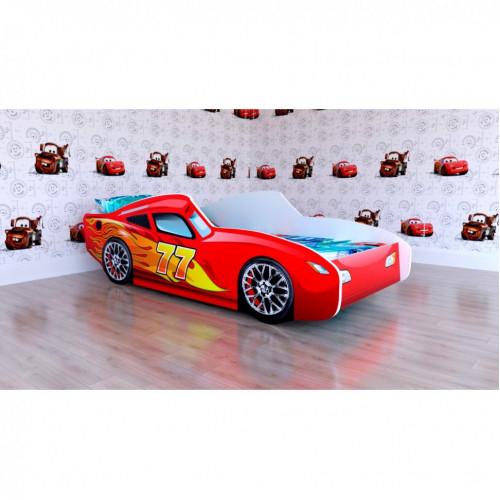 Кроватка подростковая машинка Malika Red Rally