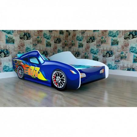 Кроватка подростковая машинка Malika Red Rally - синий