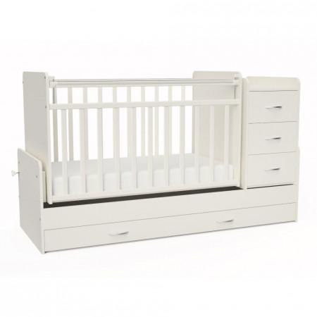 Детская кроватка трансформер СКВ 5 53403 маятник - белый
