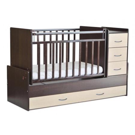 Детская кроватка трансформер СКВ 5 53403 маятник - венге-клен