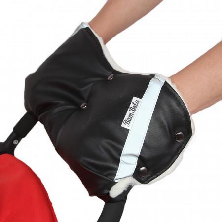 BAMBOLA Муфта для коляски (шерстяной мех+Экокожа)