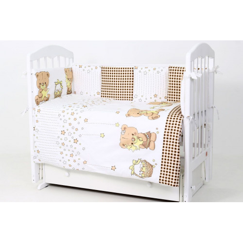 Комплект в кроватку 6 предметов Звездочеты