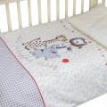 """Комплект в кроватку """"Вечеринка маленького жирафа"""" 3 предмета"""