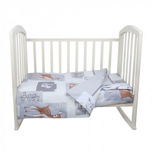 Комплект в кроватку 3 предмета Лесные зверята