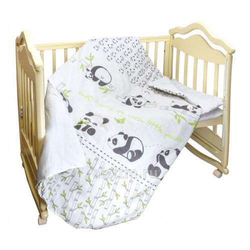 Комплект в кроватку 3 предмета Панды