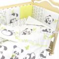 Комплект в кроватку 6 предметов Панды