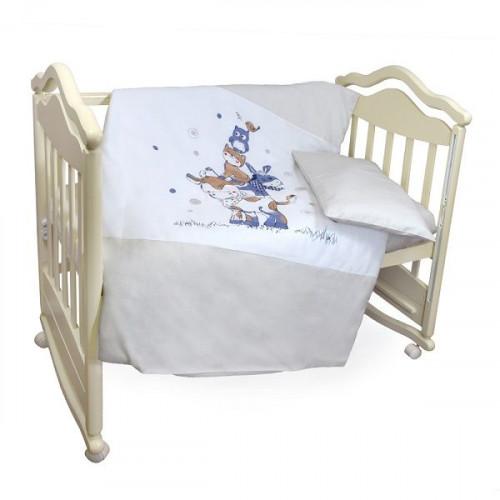 Комплект в кроватку 3 предмета Бурёнушка