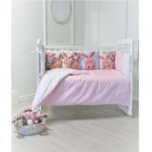 """Комплект в кроватку """"Прекрасные зайчики"""" 6 предметов"""