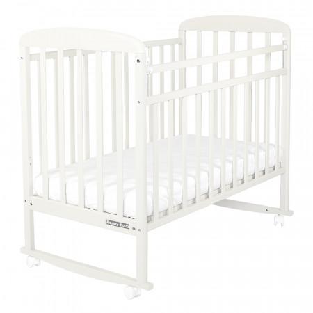 Кровать детская Милана колесо-качалка - белый