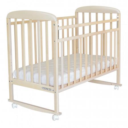 Кровать детская Милана колесо-качалка - береза снежная