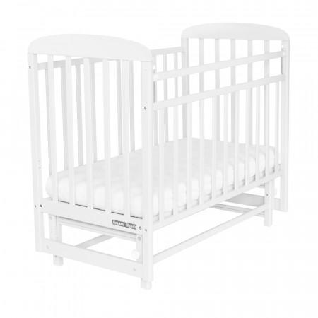 Кровать детская Милана поперечный маятник - белый
