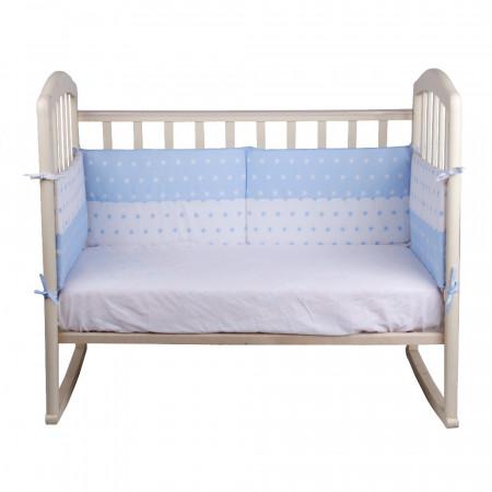 Борт в кроватку ДЕНЬ И НОЧЬ - голубой
