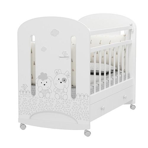 Кровать детская Fattoria Nuvola колесо-качалка с ящиком