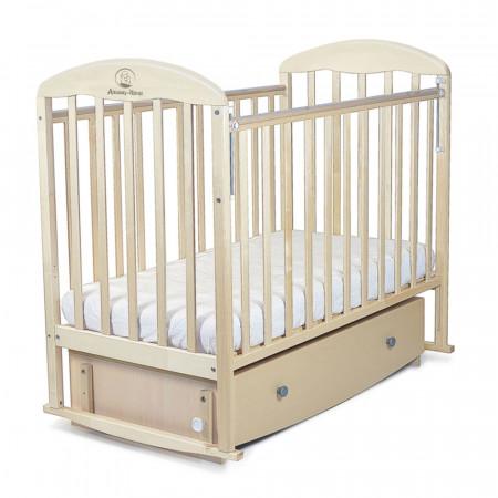 Кровать детская ВЕНЕЦИЯ маятник поперечный, ящик - береза снежная