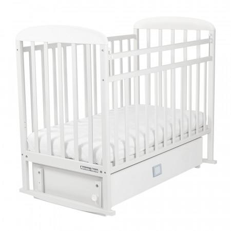 Кровать детская Милана маятник-ящик - белый
