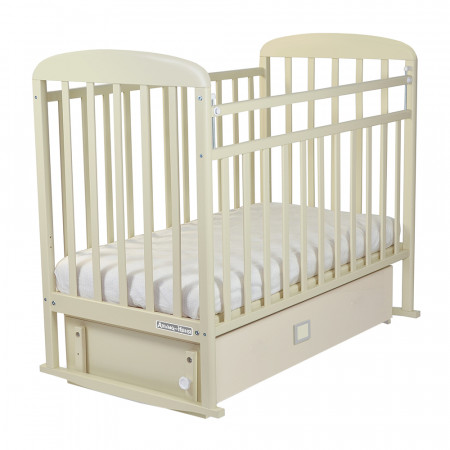 Кровать детская Милана маятник-ящик - бежевый